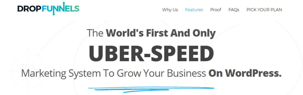 Dropfunnels uber speed page loading
