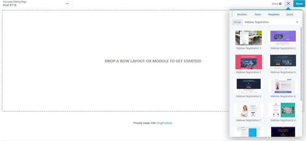 Dropfunnels-landing page templates-for webinars jpg
